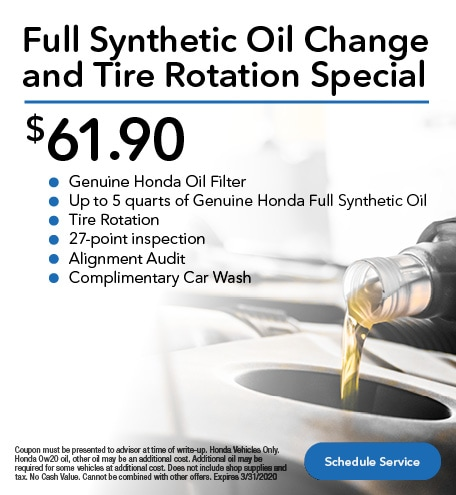 Full Synthetic Oil Change and Tire Rotation