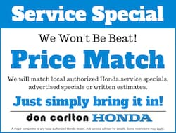 Price Match Service Special