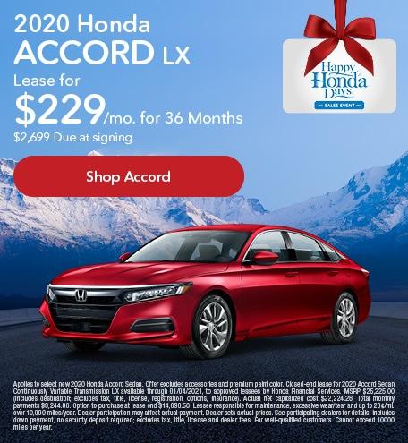 New 2020 Honda Accord | Lease