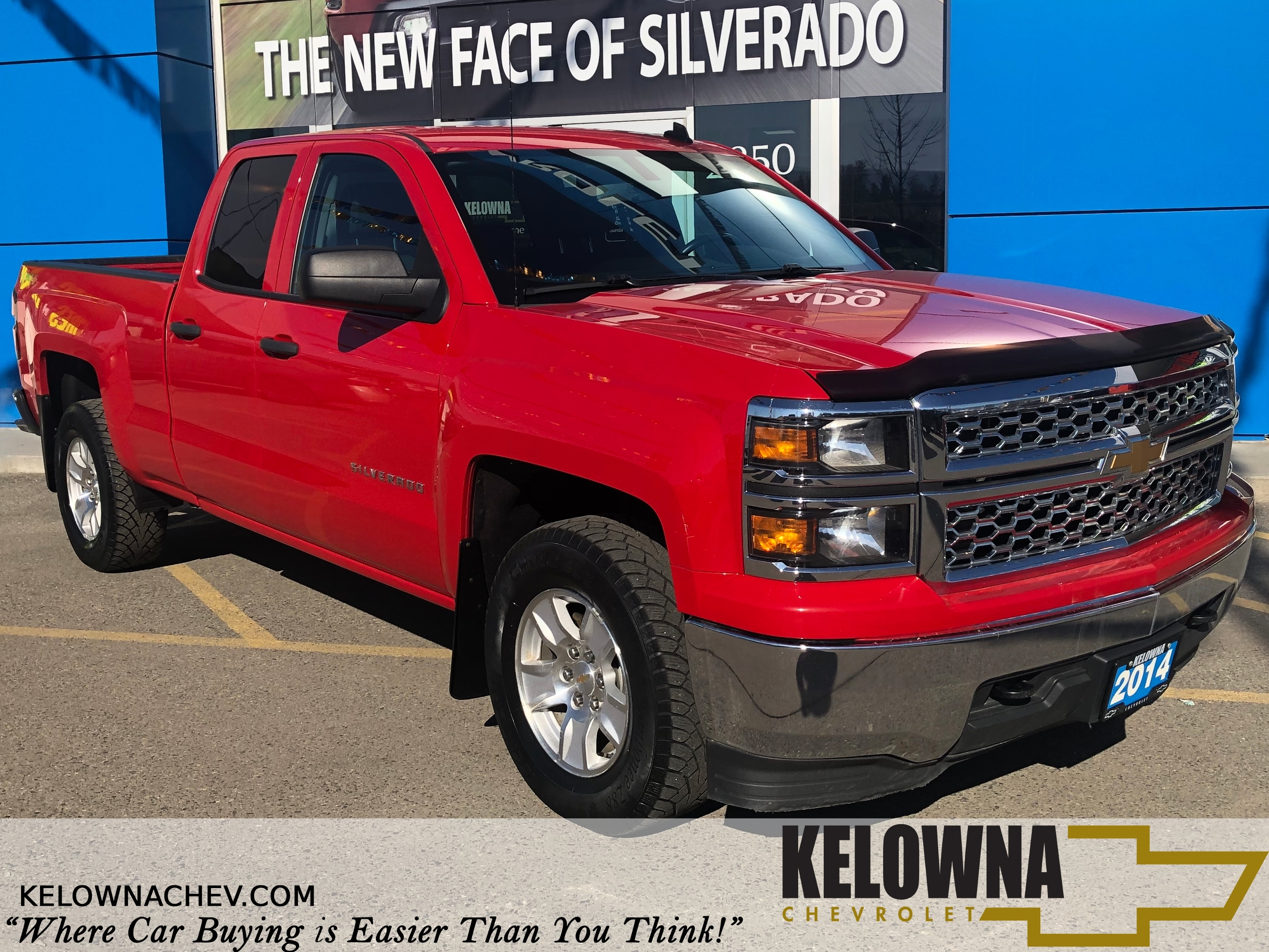2014 Chevrolet Silverado 1500 4x4 Bluetooth, Remote Keyless Entry Truck Double Cab
