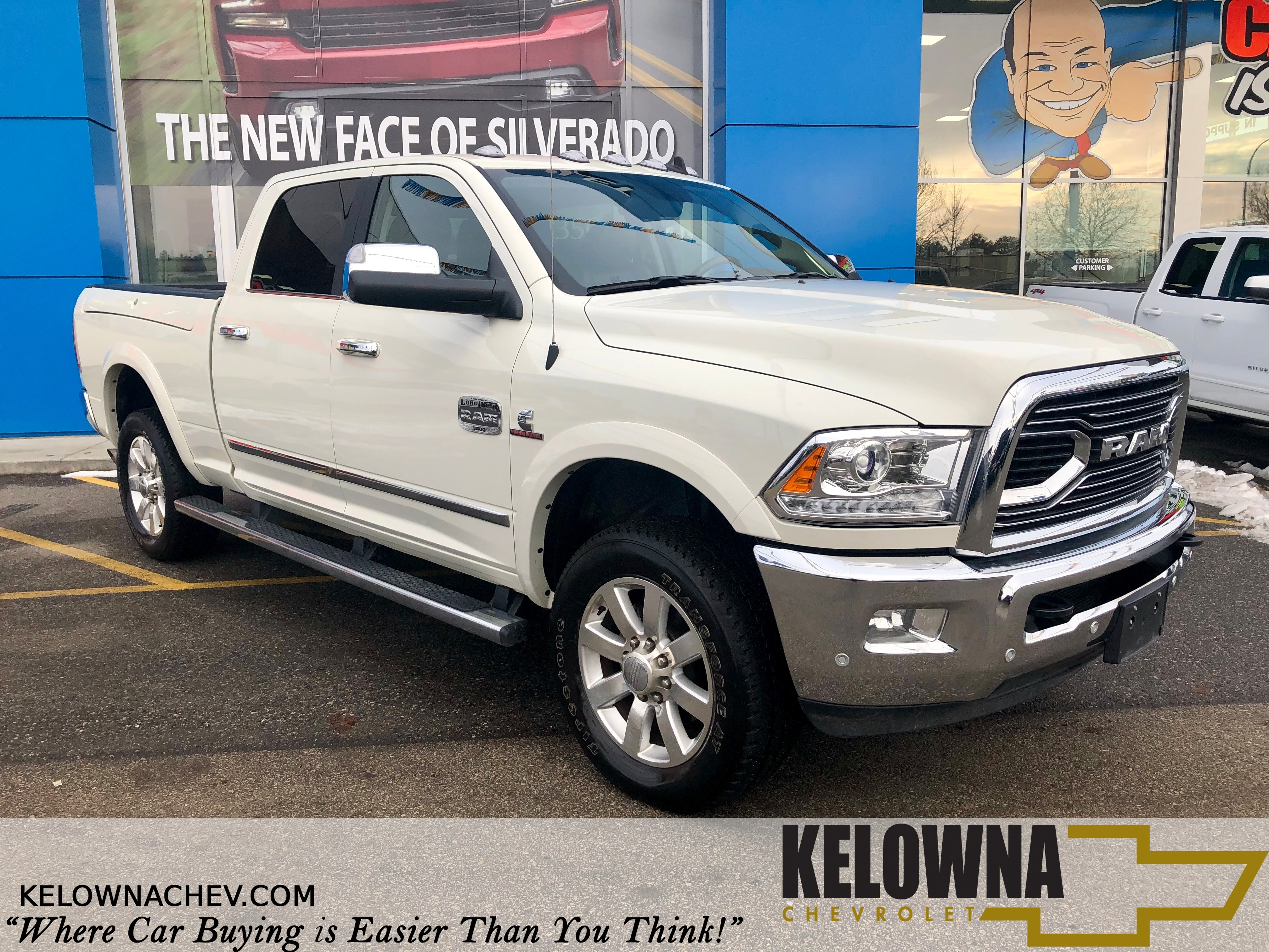 2018 Ram 3500 Longhorn 4x4, Navigation, Back Up Camera, Leather Truck Crew Cab