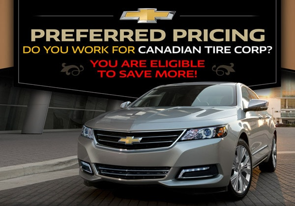Canadian Tire Corp EMPLOYEE PURCHASE PROGRAM | Kelowna Chevrolet
