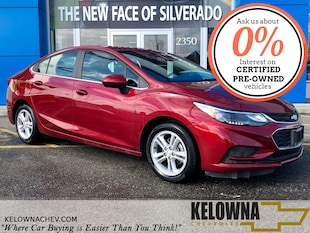 2018 Chevrolet Cruze LT Auto Back Up Camera, Sunroof, Bluetooth Sedan