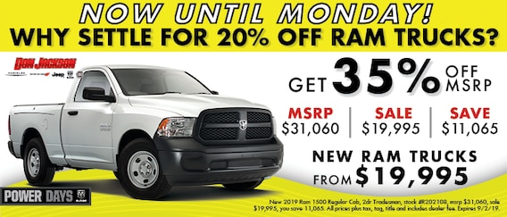 Chrysler Dodge Jeep Ram Dealership   Don Jackson   Near