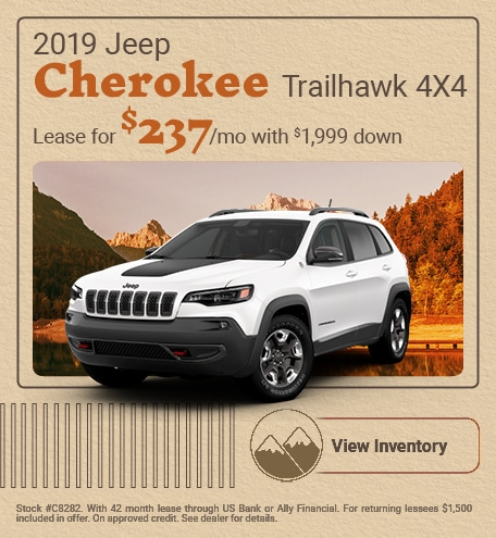 2019 Jeep Cherokee Trailhawk 4X4 - September