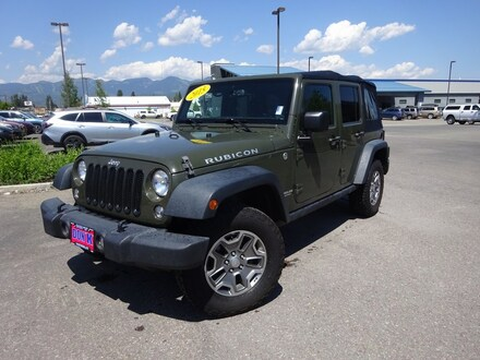 Featured Used 2015 Jeep Wrangler Unlimited Rubicon 4x4 SUV for Sale near Evergreen, MT