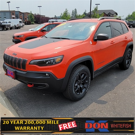 Featured New 2021 Jeep Cherokee TRAILHAWK 4X4 Sport Utility for Sale in Whitefish, MT