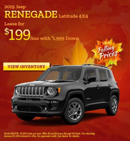 November Jeep Renegade Offer