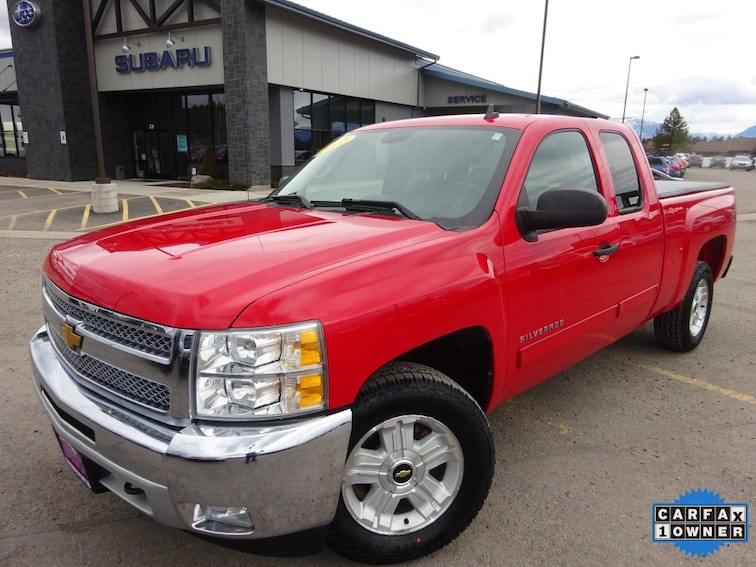 Used 2012 Chevrolet Silverado 1500 LT Truck Extended Cab for sale near Kalispell MT
