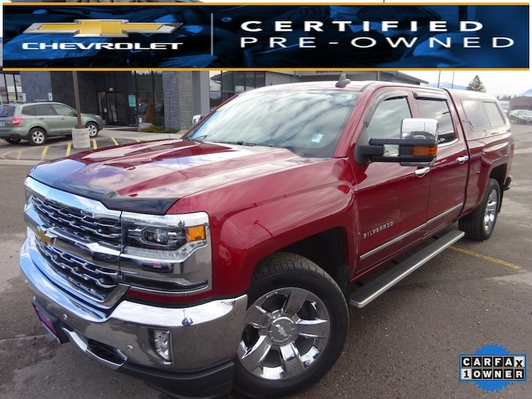 Used 2016 Chevrolet Silverado 1500 LTZ 1LZ Truck Crew Cab for sale near Kalispell MT