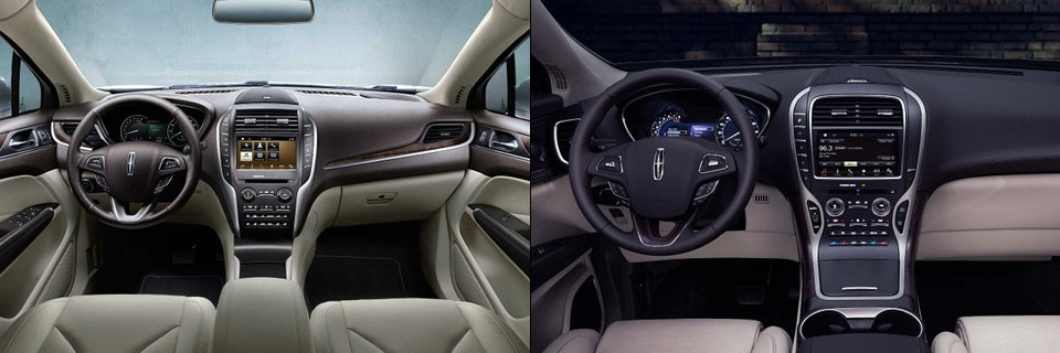 2018 Lincoln MKC And 2018 Lincoln MKX Interior Side By Side Image