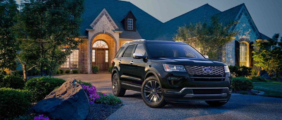 2018 Ford Explorer parked in a home driveway