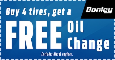 Buy 4 Tires And Get A FREE Oil Change