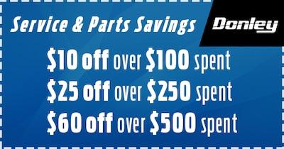 Service & Parts Summer Savings!