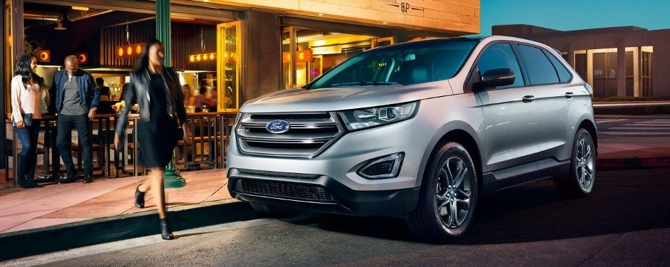 Ford Edge Parked On The Street Next To A Restaurant