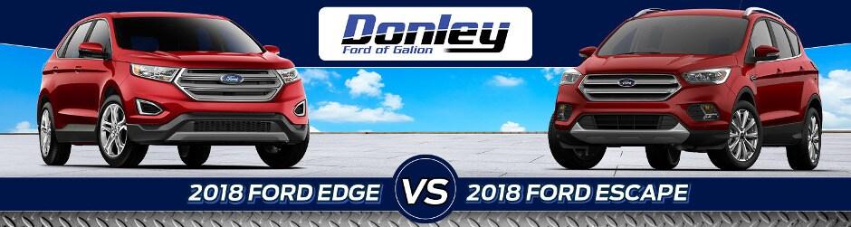 Ford Edge Vs  Ford Escape In Galion Oh