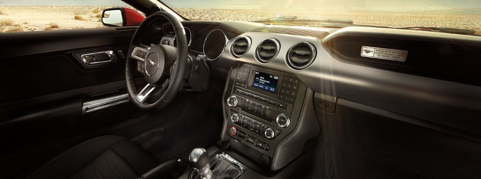 2017 Ford Mustang interior with SYNC technology in Galion, OH