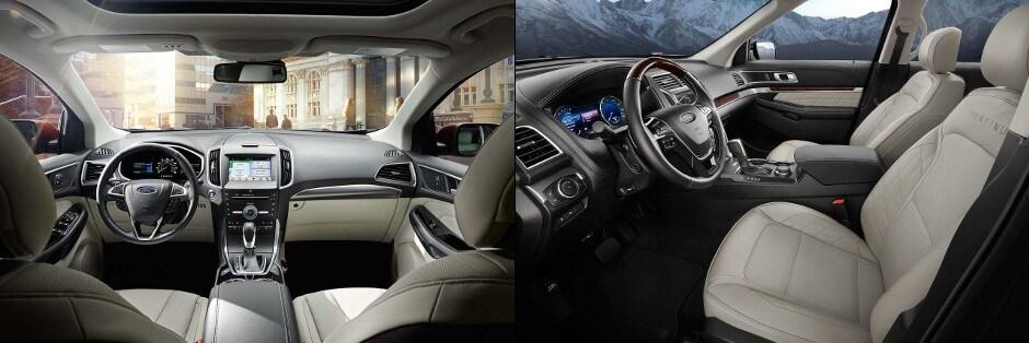 Ford Edge Vs  Ford Explorer Interior Technology