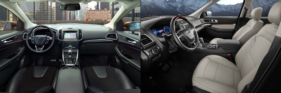 Ford Edge And  Ford Explorer Interior