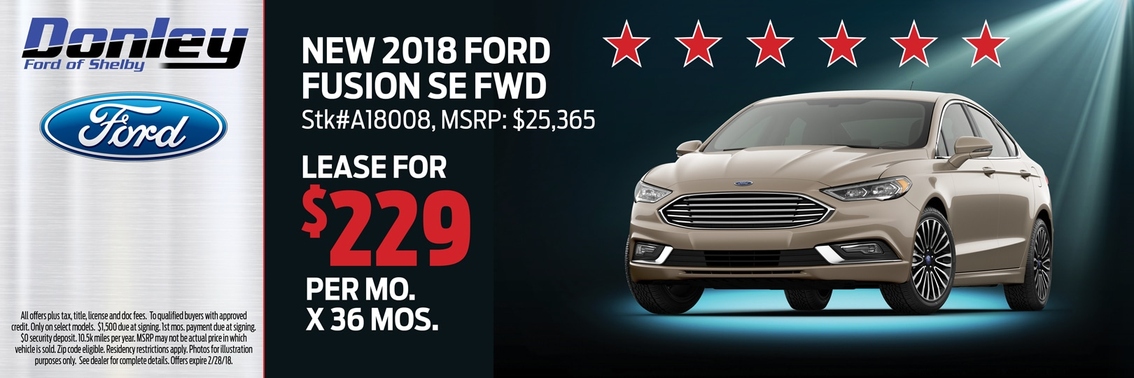 Ford Fusion Special Offer