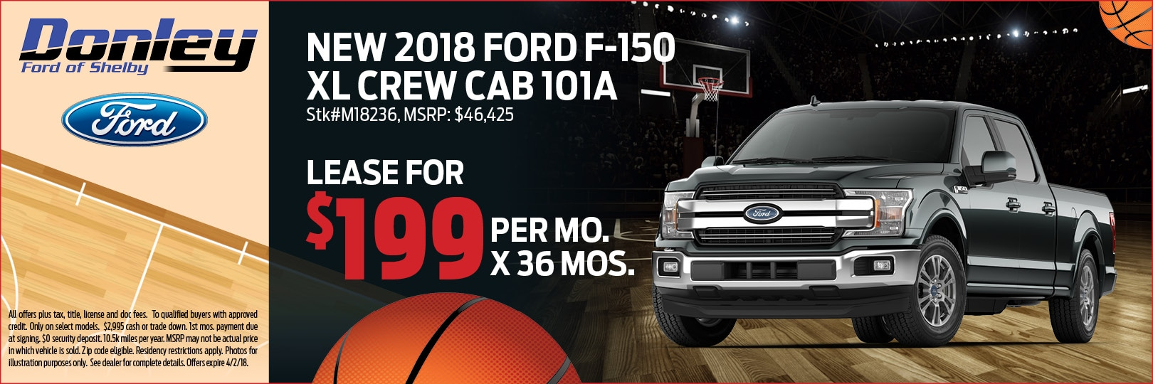 2018 Ford F-150 XL Crew Cab 101A in Shelby, OH