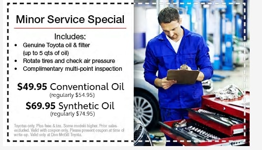 photograph regarding Printable Toyota Oil Change Coupons named Toyota Services Coupon codes Put on McGill Toyota inside Houston In close proximity to