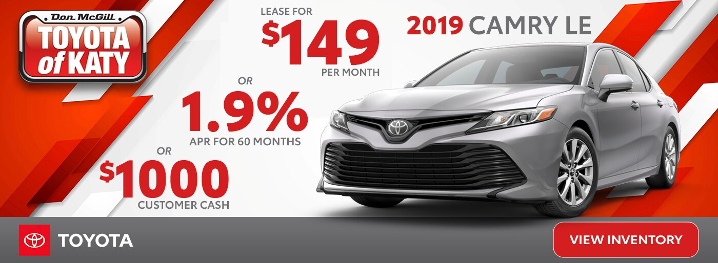 New Toyota Specials At Toyota Of Katy Near Sugarland Tx