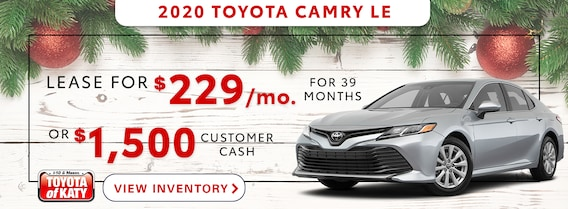 Toyota Camry Lease >> New Toyota Specials At Toyota Of Katy Near Sugarland Tx