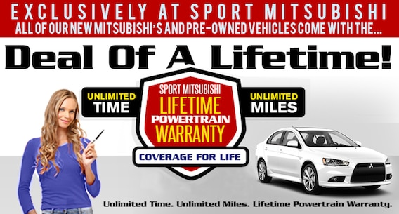 Sport Mitsubishi Free Lifetime Warranty With Every New Car And