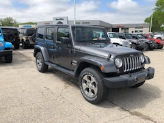 New 2018 Jeep Wrangler Unlimited WRANGLER JK UNLIMITED SAHARA 4X4 Sport Utility 187381 for Sale in Madison at Don Miller Dodge Chrysler Jeep Ram
