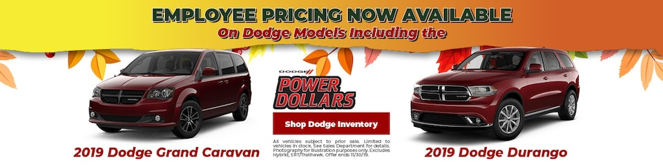 Dodge Employee Pricing