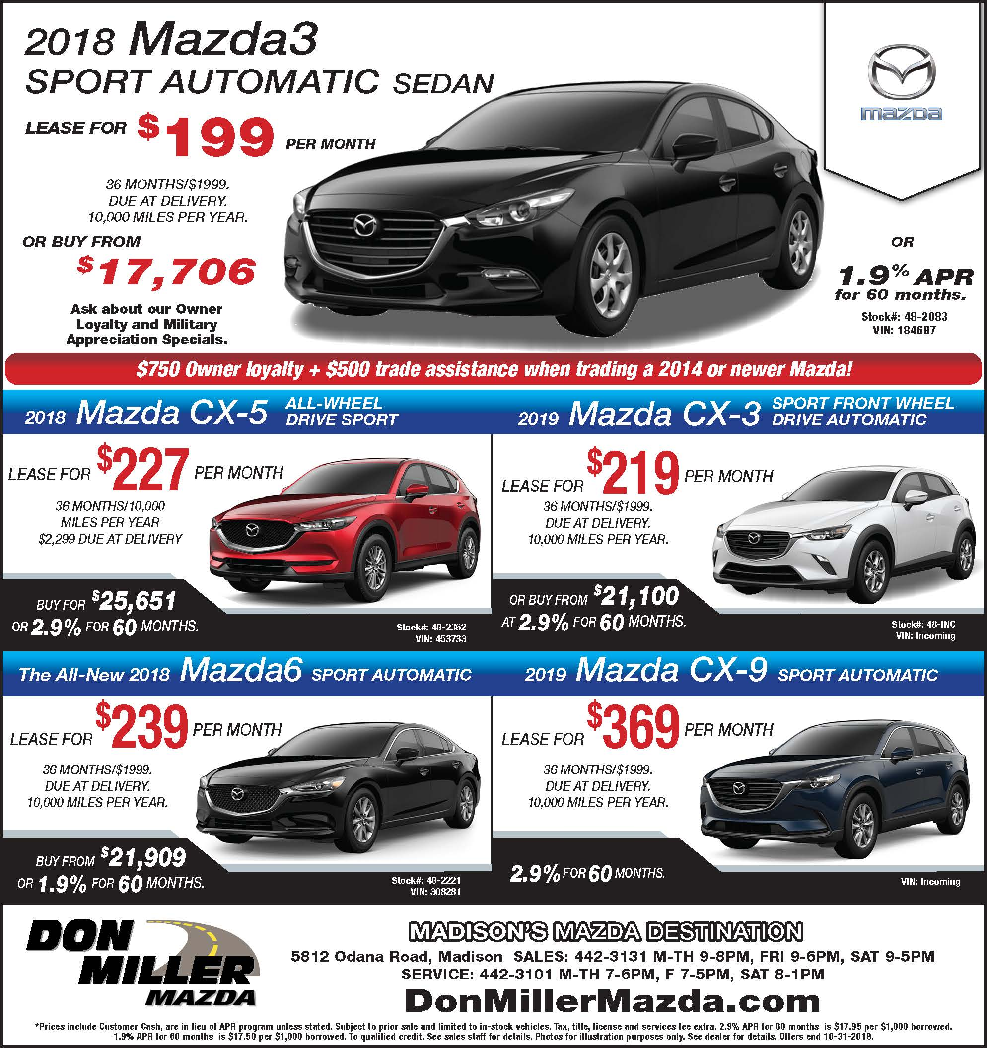 Don Miller Mazda Provides A Selection Of Featured Inventory, Representing  New And Popular Items At Competitive Prices. Please Take A Moment To  Investigate ...