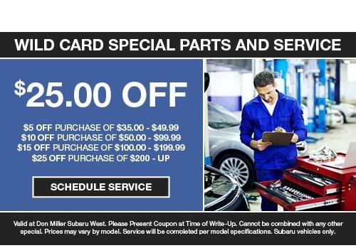 Don Miller Subaru East >> Service Specials Don Miller Subaru