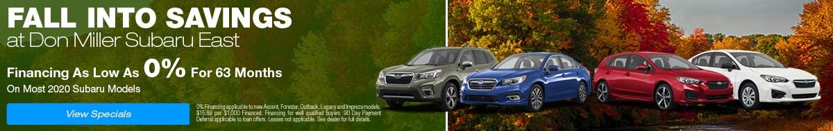 Fall Into Savings at Don Miller Subaru East