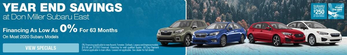 Year End Savings at Don Miller Subaru East