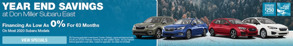 Year End Savings at Don Miller Subaru East