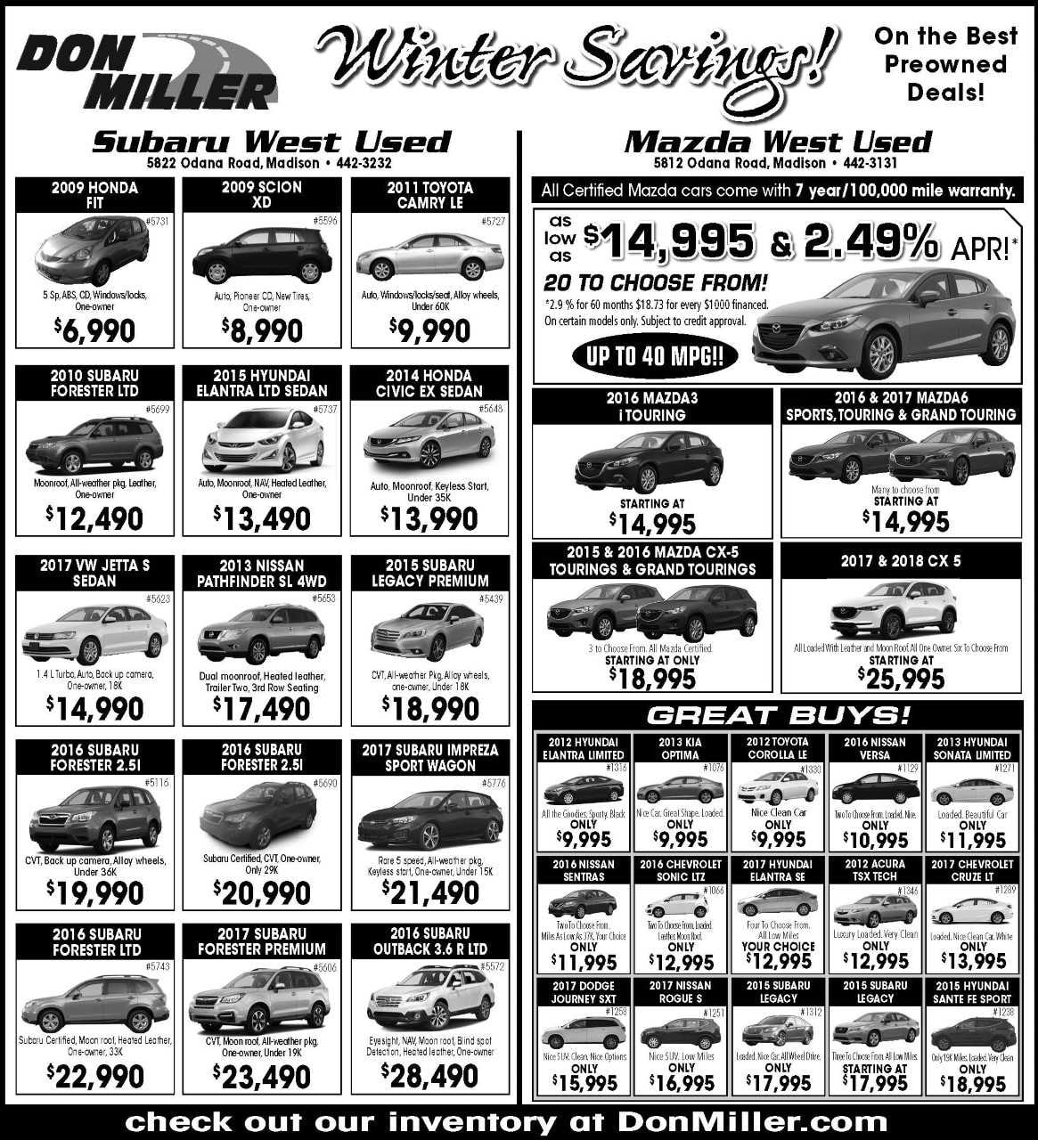 Don Miller West Print Ad