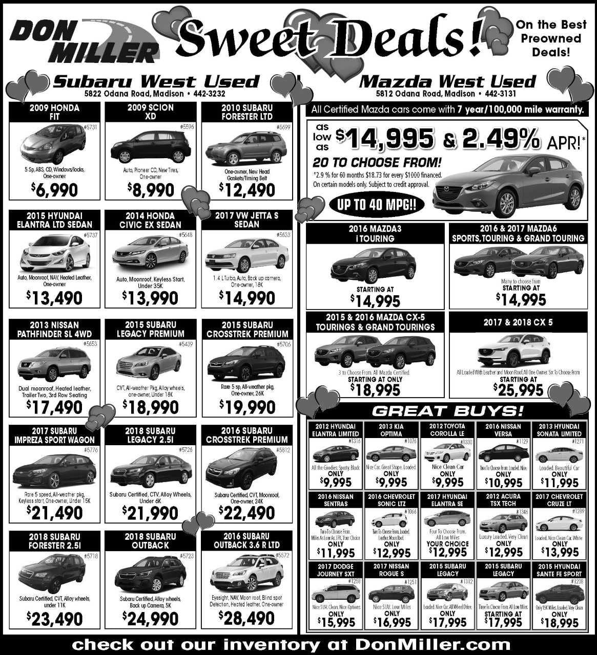 Don Miller Subaru West >> Don Miller West Print Ad | Don Miller Subaru West