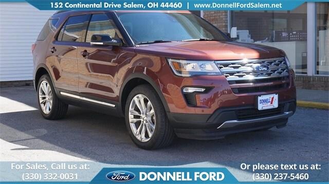 New 2018 Ford Explorer XLT SUV Salem, Ohio