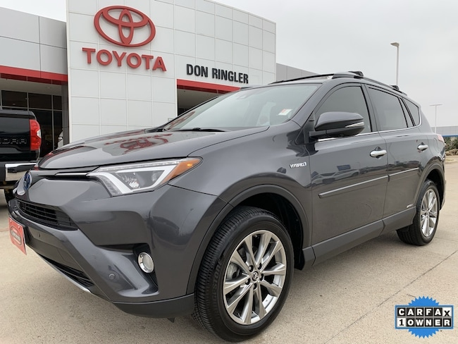 Certified 2017 Toyota RAV4 Hybrid Limited SUV for sale in Temple, TX