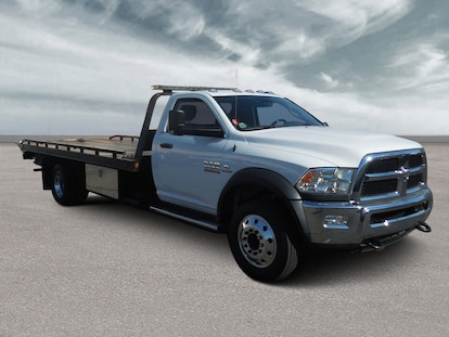 Used 2017 Dodge Ram 5500 Flat Bed Tow Truck For Sale at