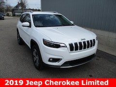 New 2019 Jeep Cherokee LIMITED 4X4 Sport Utility 1C4PJMDX6KD368351 for sale in cadillac mi