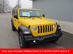 New 2019 Jeep Wrangler UNLIMITED SPORT S 4X4 Sport Utility 1C4HJXDN2KW545020 for sale in cadillac mi