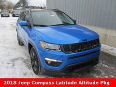 New 2018 Jeep Compass ALTITUDE 4X4 Sport Utility 3C4NJDBB8JT455840 for sale in cadillac mi