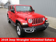 2018 Jeep Wrangler UNLIMITED SAHARA 4X4 Sport Utility for sale in cadillac mi