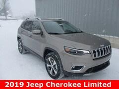 New 2019 Jeep Cherokee LIMITED 4X4 Sport Utility 1C4PJMDX9KD380073 for sale in cadillac mi