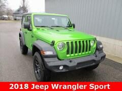 New 2018 Jeep Wrangler SPORT 4X4 Sport Utility 1C4GJXAN4JW261953 for sale in cadillac mi