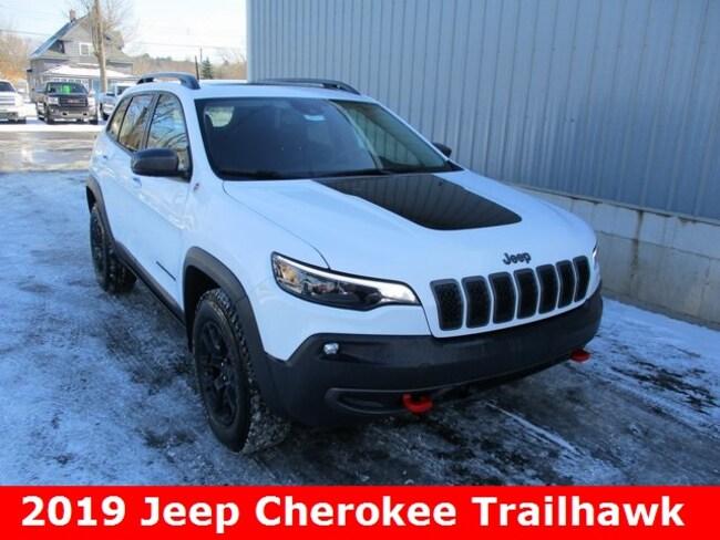 New 2019 Jeep Cherokee TRAILHAWK ELITE 4X4 Sport Utility in Cadillac, MI