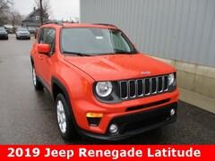 New 2019 Jeep Renegade LATITUDE 4X4 Sport Utility ZACNJBBB3KPK07571 for sale in cadillac mi