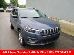 New 2019 Jeep Cherokee LATITUDE PLUS 4X4 Sport Utility 1C4PJMLX7KD472641 for sale in cadillac mi